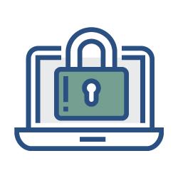Icoon voor privacy