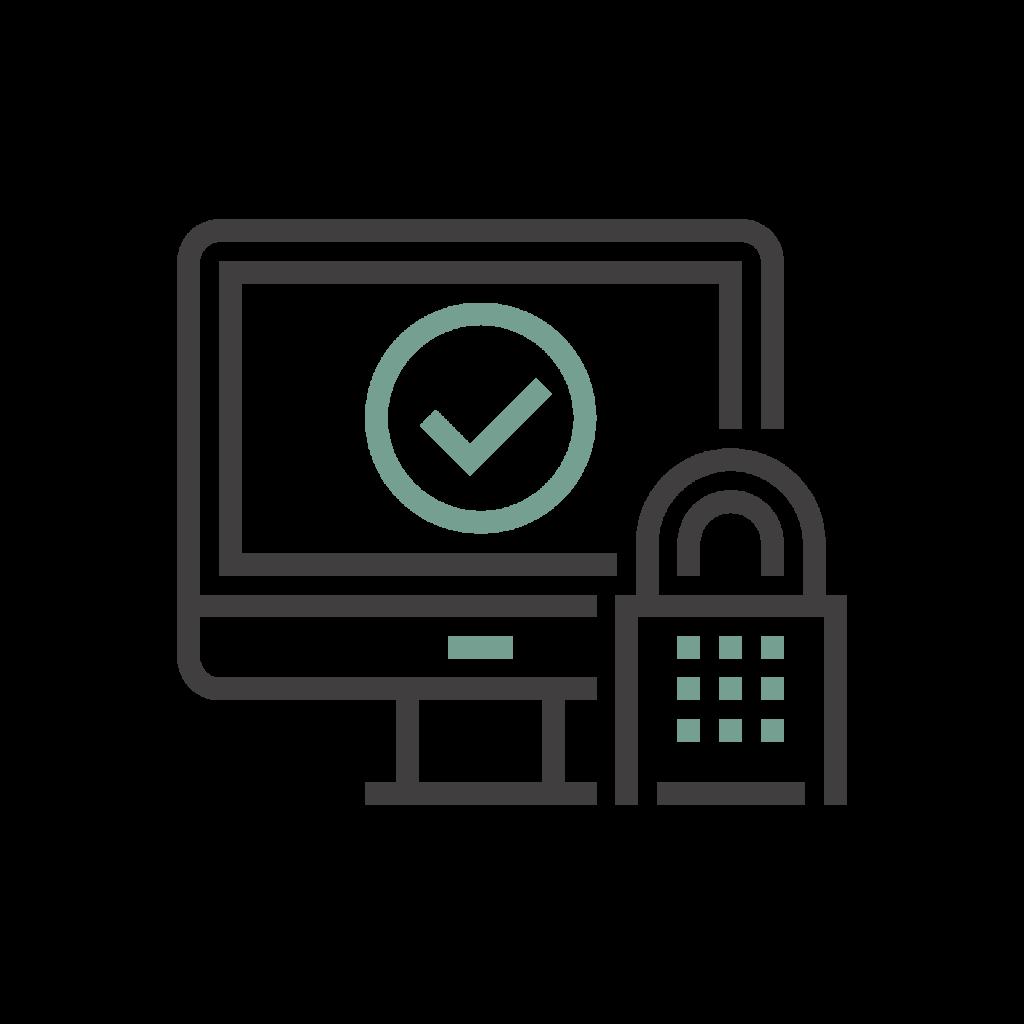 Icoon voor databeveiliging